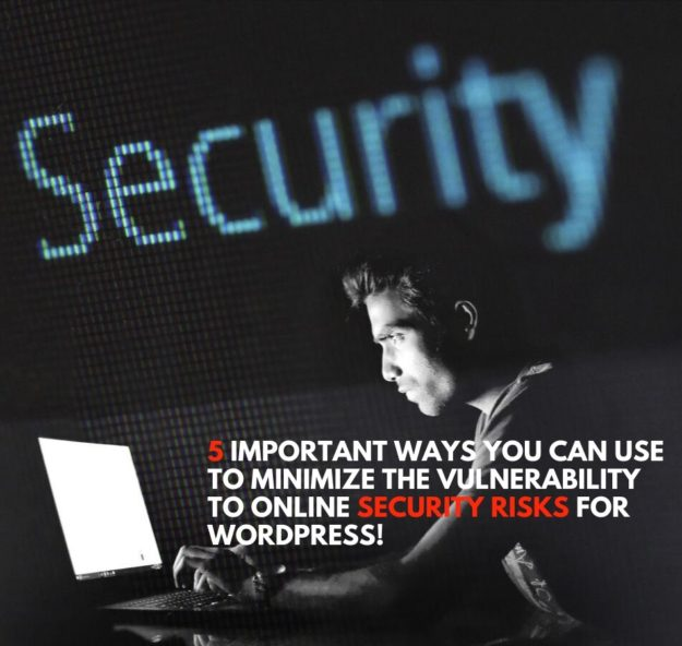 5 Important Ways You Can Use To Minimize The Vulnerability To Online Security Risks For Wordpress!